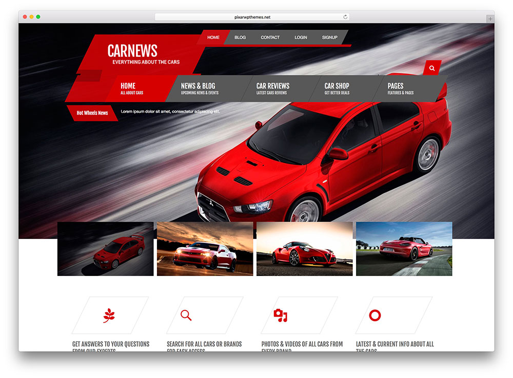 Tema WordPress per Blog Auto e Moto: Car News