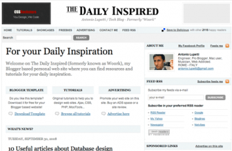 Blogger Template: stile Magazine con The Daily Inspired