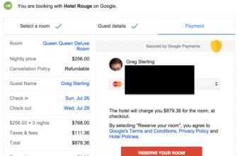 Test Google: prenotazione diretta dalle pagine di ricerca