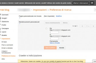 Impostare redirect 301 e 302 su Blogger