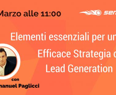 Webinar: Come strutturare una strategia di Lead Generation