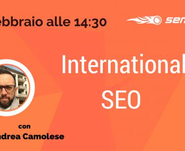 Webinar: SEO per siti multilingua e mercato internazionale