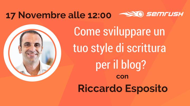 Trovare il proprio Stile di Scrittura del Blog: Webinar gratuito