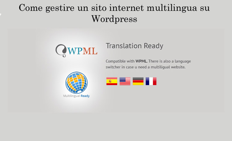 Wordpress - Plugin per sito multilingua: WPML