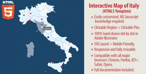 Cartina Italia Cliccabile Wordpress.Mappa Interattiva Dell Italia Html Per Siti Web