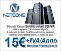 Hosting condiviso Netsons 15€/anno