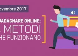 Webinar: 4 Soluzioni per Guadagnare Online – 4 Lezioni Gratuite